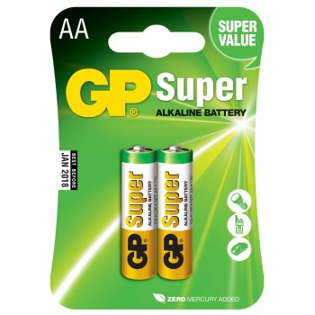 Pilha Super Alcalina AA em Blister de 2pcs - 15A-C2 - GP Batteries
