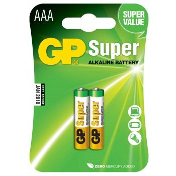 Pilha Super Alcalina AAA em Blister de 2pcs - 24A-C2 - GP Batteries