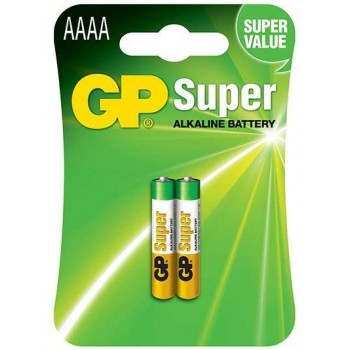 Pilha Super Alcalina AAAA em Blister de 2pcs - 25A-C2 – GP Batteries
