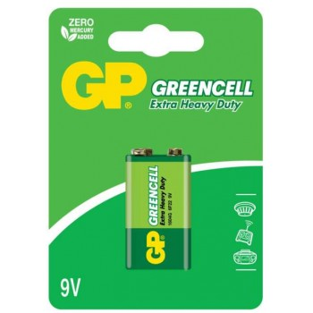 Bateria Greencell Zinco Carvão 9V – 1604G-C1- GP  Batteries