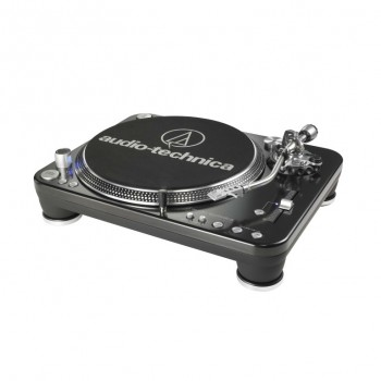 Toca-discos profissional Audio-Technica AT-LP1240 para DJs - Direct-Drive USB com Sistema de conversão de LP para áudio digital - AT-LP1240-USB