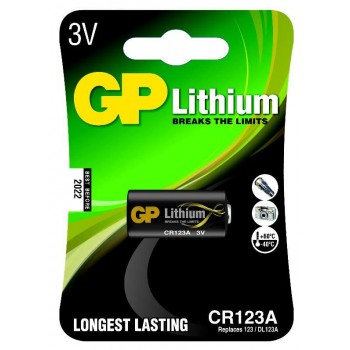 Bateria Lithium Photo 3V – CR123A-C1 - GP Batteries