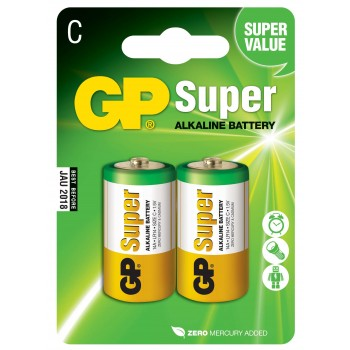 Pilha Super Alcalina C em Blister de 2pcs – 14A-C2 - GP Batteries