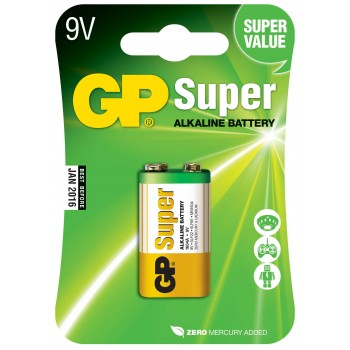 Bateria Super Alcalina 9V - 1604A-C1- GP Batteries
