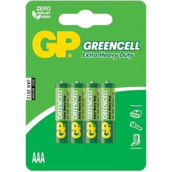 Pilha Greencell Zinco Carvão AAA em Blister de 4pcs – 24G-C4 – GP Batteries