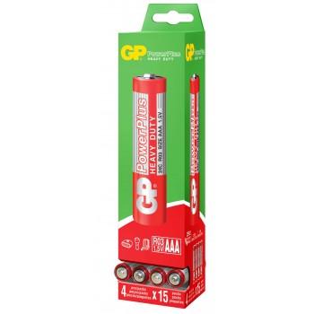 Pilhas AAA POWERPLUS 1.5V - 15 Kits de 4 pilhas - 24P-TGDB15 - GP Batteries