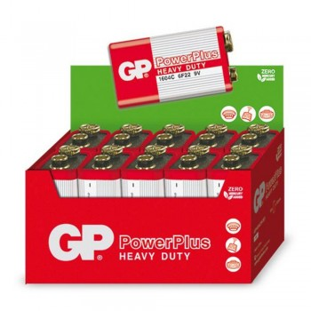 Bateria POWERPLUS 9V Kit de 10 baterias GP1604CR-2S1 - GP Batteries
