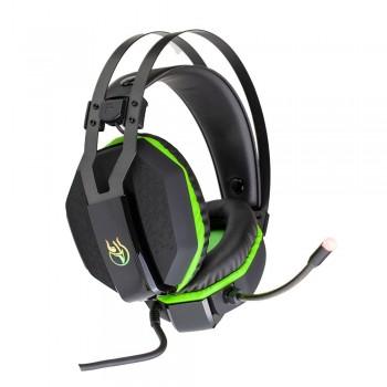 Headset Gamer Kross Aros USB 7.1 Preto e Verde KE-HS200