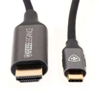 Cabo Conversor Kross USB-C para HDMI 4K@60Hz 1.8m KE-UC0120