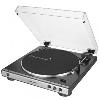 Toca-Discos Audio-Technica LP60BK Preto com acionamento automático por correia (Belt-Drive) AT-LP60X-GM Grafite
