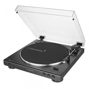 Toca-Discos Audio-Technica LP60BK Preto com acionamento automático por correia (Belt-Drive) AT-LP60X-BK Preto