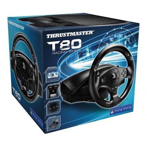 Volante + Pedais Thrustmaster T80 Racing Wheel para PlayStation 3 e PlayStation 4 - 4169071